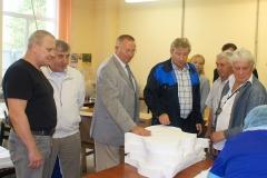 Посещение руководителей и преподавательского состава современного производства респираторов