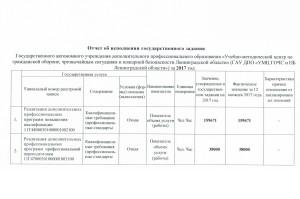 Отчет об исполнении государственного задания за 2017 год 1
