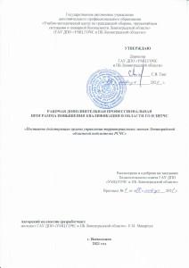 Постоянно действующие органы упр терр звеньев ЛО РСЧС